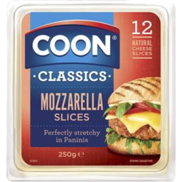 Photo of Coon Mozzarella Slices 250g