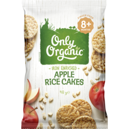 Photo of Only Organic Apple Mini Rice Cakes 8+ Months 40g 40g