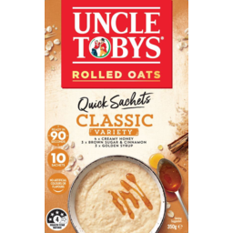 Photo of Uncle Tobys Oats Classic Variety Quick Sachets 10 Pack 350g