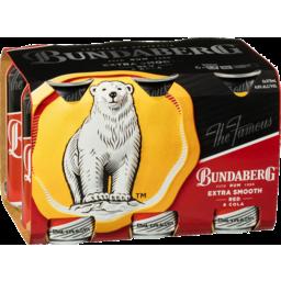 Photo of Bundaberg Rum Extra Smooth Red & Cola 375ml 6 Pack