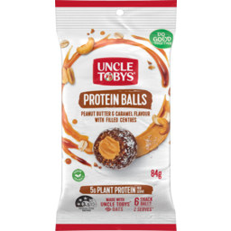 Photo of Uncle Tobys Peanut Butter & Caramel Flavour With Filled Centres Protein Balls 84g