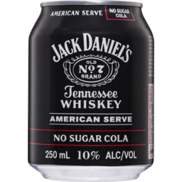 Photo of Jack Daniel's Old No.7 Americans Serve & No Sugar Cola Cans