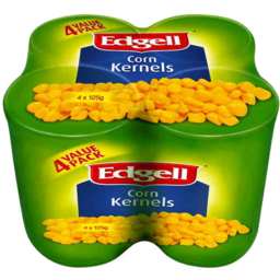 Photo of Edgell Corn Kernels Value Pack 4 X 125gm