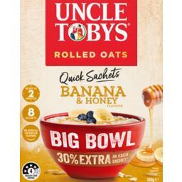 Photo of Uncle Toby's Big Bowl Oats Banana Honey 8pk