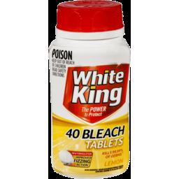 Photo of White King Lemon 40 Bleach Tablets
