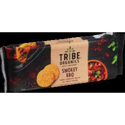 Photo of Tribe Organics Smokey BBQ Rice Crackers 100g