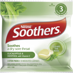 Photo of Soothers Eucalyptus & Menthol + Vitamin C 3 Stick Packs