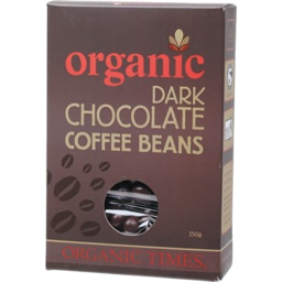 Photo of ORGANIC TIMES:OT Dark Chocolate Coffee Beans 150g