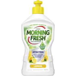 Photo of Morning Fresh Dishwashing Liquid Lemon Antibacterial 400ml