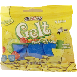Photo of Zazers Gelt Taffy Blue 8 Coins 39g