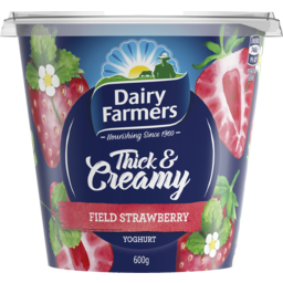 Photo of Dairy Farmers Thick & Creamy Yoghurt Field Strawberry 600g