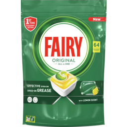 Photo of Fairy Original All In One Lemon Dishwasher Capsules 64 Pack