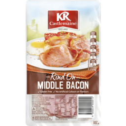 Photo of Kr Castlemaine Middle Bacon Rashers Rind On 250g