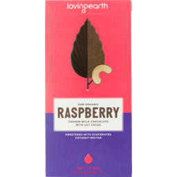 Photo of LOVING EARTH:LE Raspberry Choc 80g