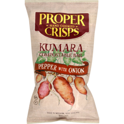 Photo of Proper Crisps Kumara Pepper & Onion 100g