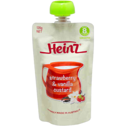Photo of Heinz Strawberry & Vanilla Custard 120gm