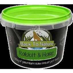 Photo of Back To Nature Premium Rabbit & Hare 500g