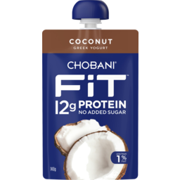 Photo of Chobani Fit Coconut Greek Yogurt Pouch 140g