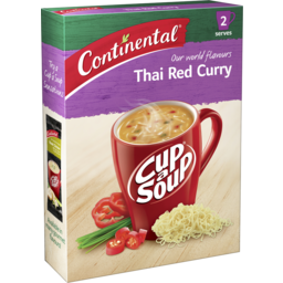 Photo of Continental Cup A Soup Asian Thai Red Curry 2 Pack 60g