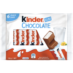 Photo of Kinder Chocolate 6 Snack Bar Pack 126g