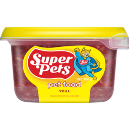 Photo of Superpet Chunkie Pet Food Veal 500g