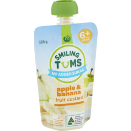 Photo of WW Smiling Tums Apple Baby Food Banana Custard 120g