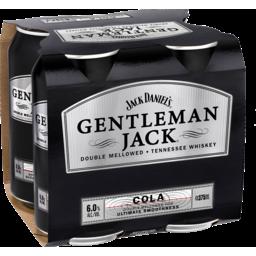 Photo of Jack Daniel's Gentleman Jack & Cola Can 4x375ml