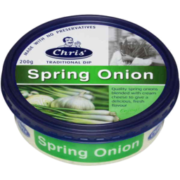 Photo of Chris Greek Dips Spring Onion 200gm