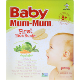 Photo of Baby Mum-Mum Rice Rusks Vegetable 36gm