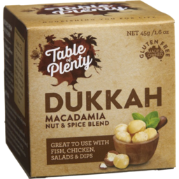 Photo of Table Of Plenty Macadamia Dukkah Nut And Spice Blend 45g