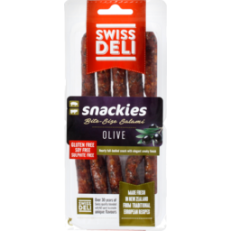 Photo of Swiss Deli Salami Olive Snackies 10 Pack 130g