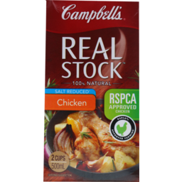 Photo of Campbells Real Stock Chicken Salt Reduced 500ml