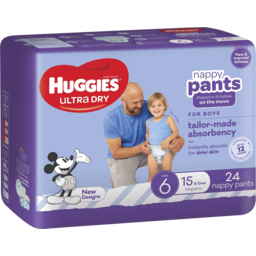 Photo of Huggies Ultra Dry Nappy Pants Boy Size 6 (15kg+) 24 Pack