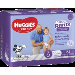 Photo of Huggies Nappy Pants Junior Boy 24s