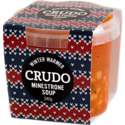 Photo of Crudo Winter Warmers Soup Minestrone 340g
