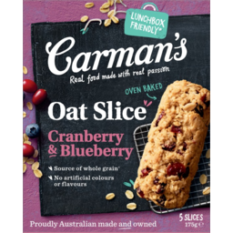 Photo of Carmans Cranberry & Blueberry Oat Slice 5 Pack 175g