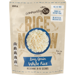 Photo of Community Co Long Grain White Rice Microwavable Rice 250g