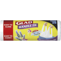 Photo of Glad Handle Tie Lavender And Orchid Bin Liners Large 25pk