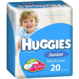 Photo of Huggies Nappies Junior Boys 20pk