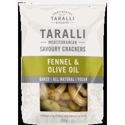 Photo of Taralli Fennel & Olive Oil Savoury Crackers 250g