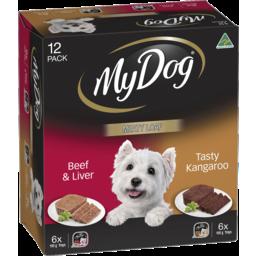Photo of My Dog Meaty Loaf Wet Dog Food Beef & Liver And Tasty Kangaroo 12x100g Carton