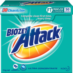 Photo of Bio Zet Attack 3d Clean Action Ultra Concentrate Front & Top Loader Laundry Powder 2kg