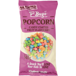 Photo of Dr Bugs Fruit Flavoured Popcorn 140g