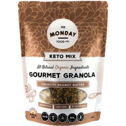 Photo of The Monday Food Co - Granola - Keto Peanut Butter - 300g