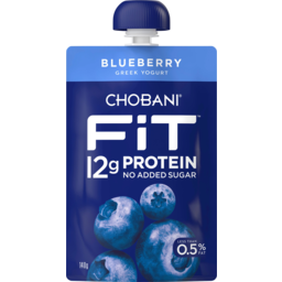 Photo of Chobani Fit Blueberry Greek Yogurt Pouch 140g