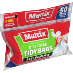 Photo of Multix Dispenser Tidy Bags Medium 50 Pack