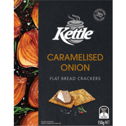 Photo of Kettle Caramelised Onion Flat Bread Crackers 150g