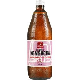 Photo of Lo Bros Kombucha Raspberry & Lemon 750ml
