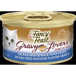 Photo of Fancy Feast Cat Food, Gravy Lovers Ocean Whitefish & Tuna Feast 85g