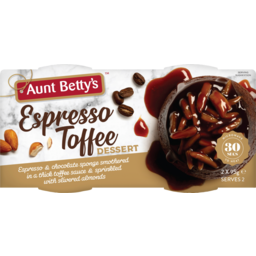 Photo of Aunt Bettys Steamy Puds Espresso Toffee & Almond 190g